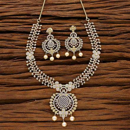 53035 CZ Classic Necklace with gold plating