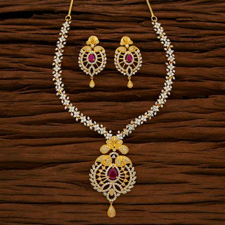 53036 CZ Classic Necklace with gold plating