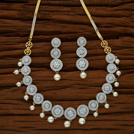 53038 CZ Classic Necklace with 2 tone plating