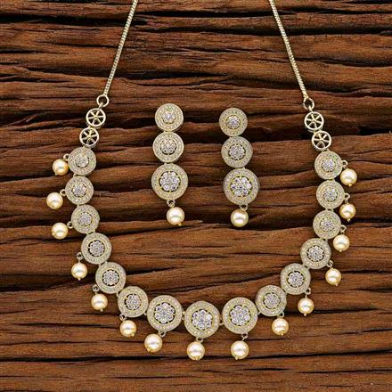 53039 CZ Classic Necklace with gold plating
