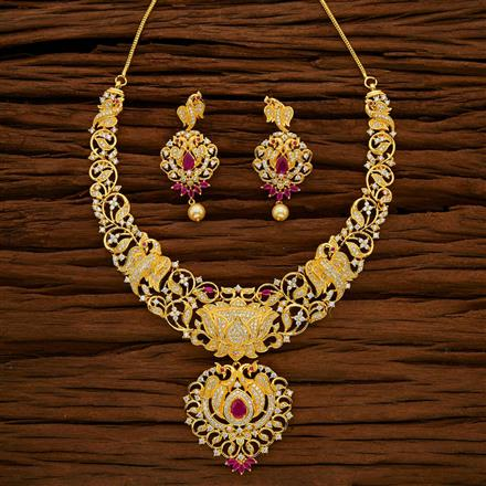 53043 CZ Classic Necklace with gold plating