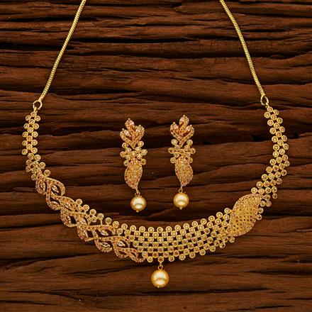 53046 CZ Classic Necklace with gold plating