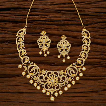 53049 CZ Classic Necklace with gold plating