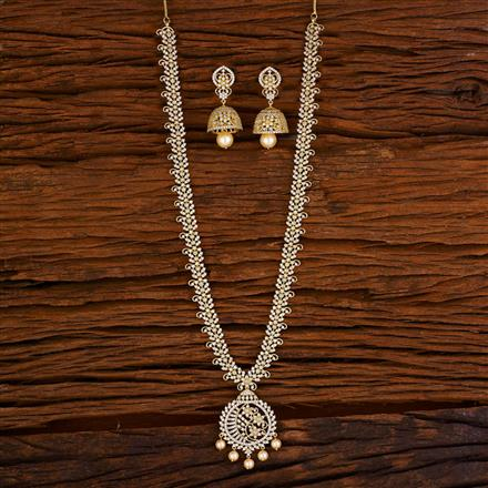 53061 CZ Long Necklace with gold plating