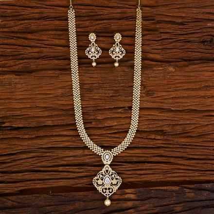 53065 CZ Long Necklace with gold plating