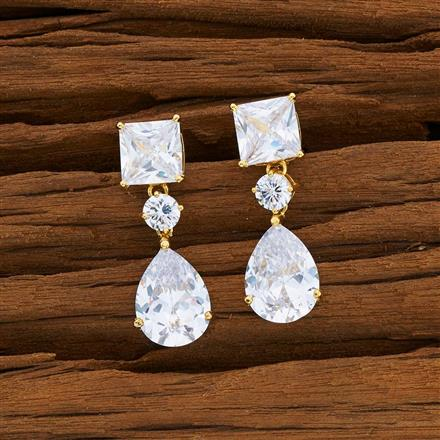 53098 CZ Short Earring with gold plating