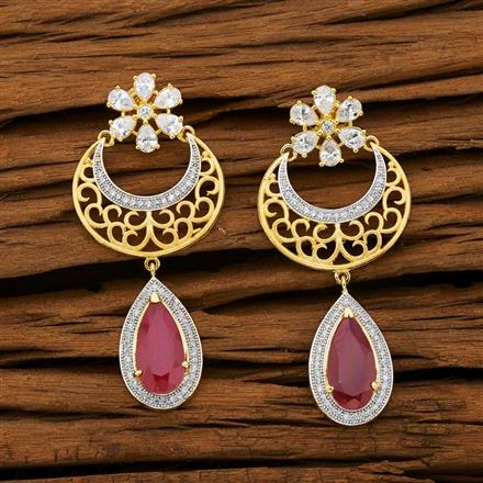 53101 CZ Classic Earring with 2 tone plating