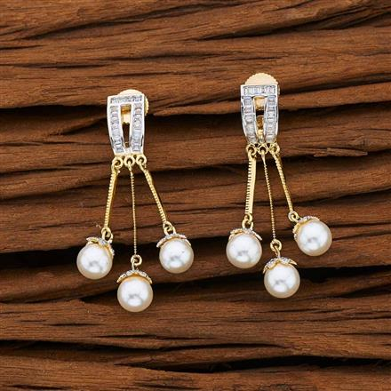 53102 CZ Classic Earring with 2 tone plating