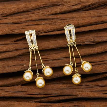 53103 CZ Classic Earring with gold plating