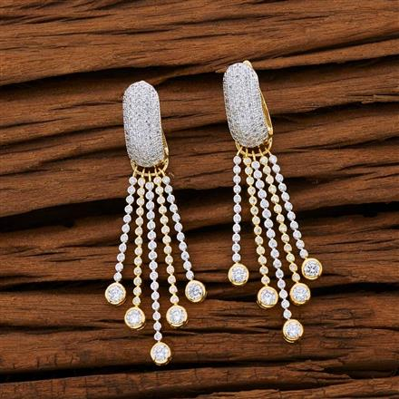53104 CZ Classic Earring with 2 tone plating