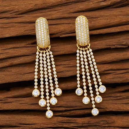 53105 CZ Classic Earring with gold plating