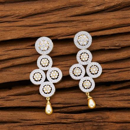 53107 CZ Classic Earring with 2 tone plating