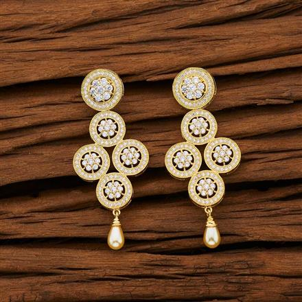 53108 CZ Classic Earring with gold plating