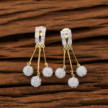 53110 CZ Classic Earring with 2 tone plating