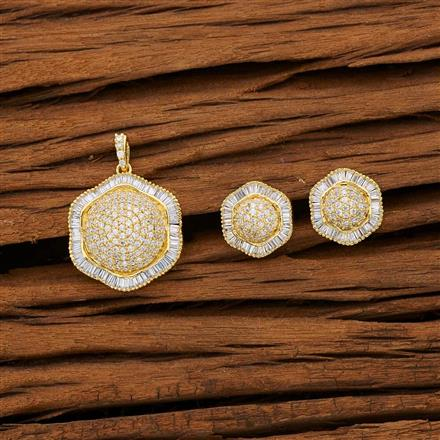 53118 CZ Classic Pendant Set with gold plating