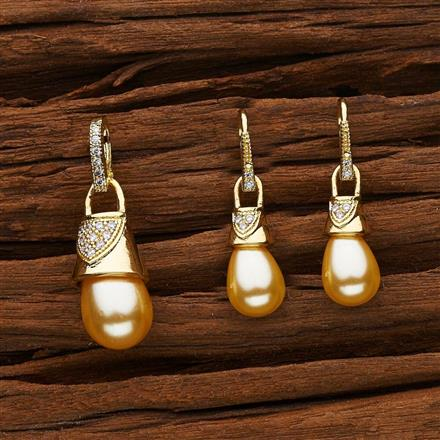 53121 CZ Delicate Pendant Set with gold plating