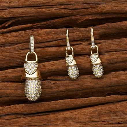 53123 CZ Delicate Pendant Set with gold plating