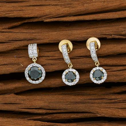53130 CZ Delicate Pendant Set with 2 tone plating