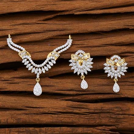 53138 CZ Classic Mangalsutra with 2 tone plating
