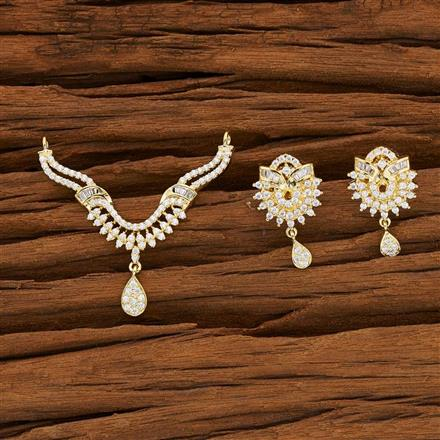 53139 CZ Classic Mangalsutra with gold plating