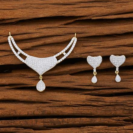 53141 CZ Classic Mangalsutra with 2 tone plating