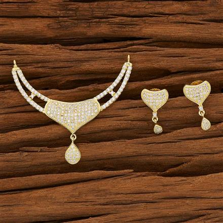 53142 CZ Classic Mangalsutra with gold plating