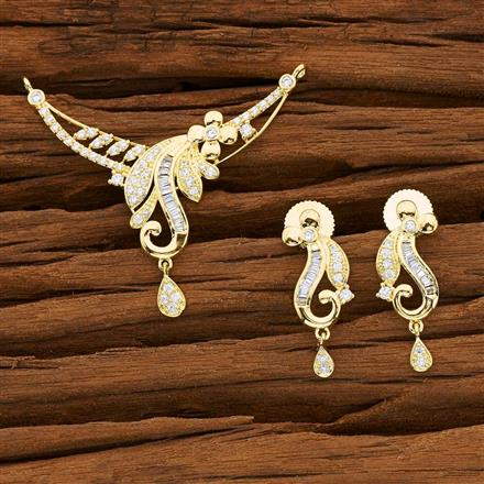 53146 CZ Classic Mangalsutra with gold plating
