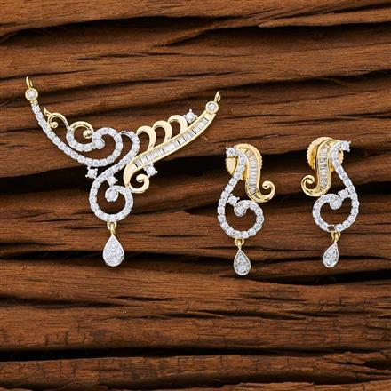 53147 CZ Classic Mangalsutra with 2 tone plating
