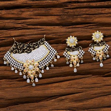 53149 CZ Classic Mangalsutra with 2 tone plating