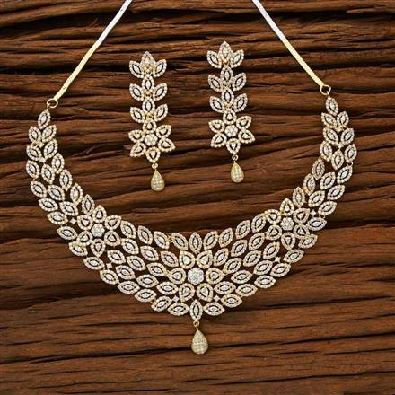 53183 CZ Classic Necklace with gold plating