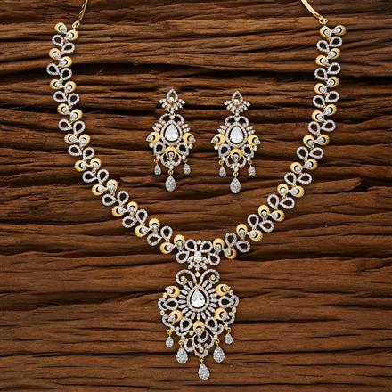 53191 CZ Classic Necklace with 2 tone plating