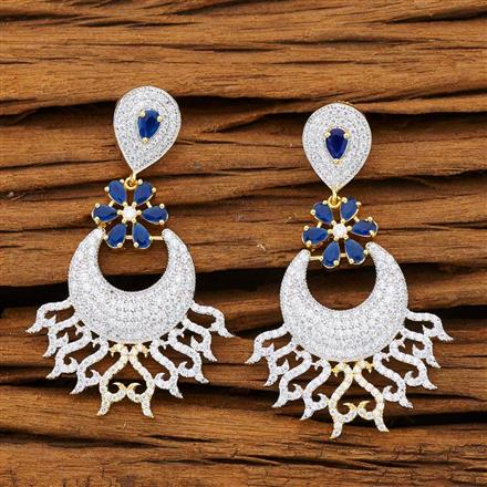 53228 CZ Classic Earring with 2 tone plating