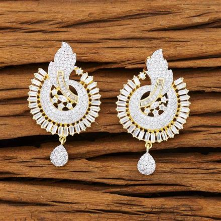 53229 CZ Classic Earring with 2 tone plating