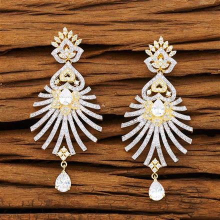 53230 CZ Classic Earring with 2 tone plating