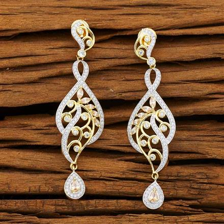 53231 CZ Classic Earring with 2 tone plating
