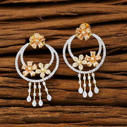 53233 CZ Classic Earring with 2 tone plating