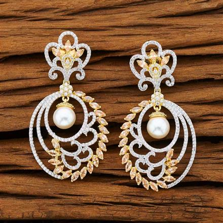 53238 CZ Classic Earring with 2 tone plating