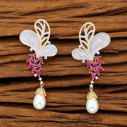 53239 CZ Classic Earring with 2 tone plating
