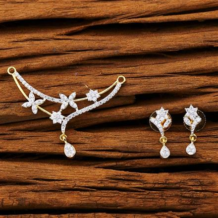 53262 CZ Classic Mangalsutra with 2 tone plating