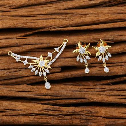 53264 CZ Classic Mangalsutra with 2 tone plating