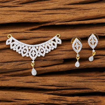 53265 CZ Classic Mangalsutra with 2 tone plating