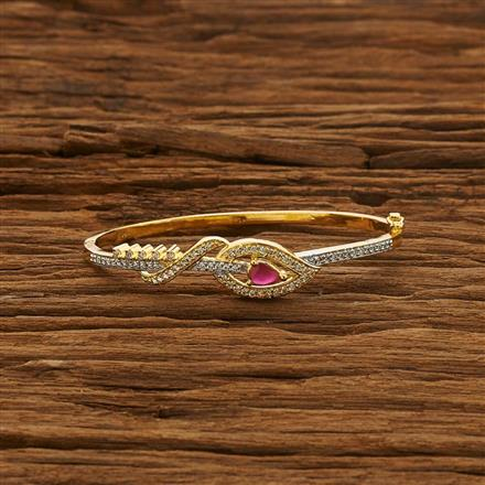53274 CZ Delicate Kada with 2 tone plating