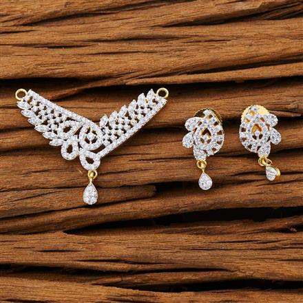 53279 CZ Classic Mangalsutra with 2 tone plating