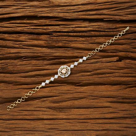 53285 CZ Classic Bracelet with 2 tone plating