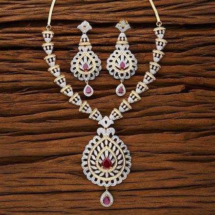 53290 CZ Classic Necklace with 2 tone plating