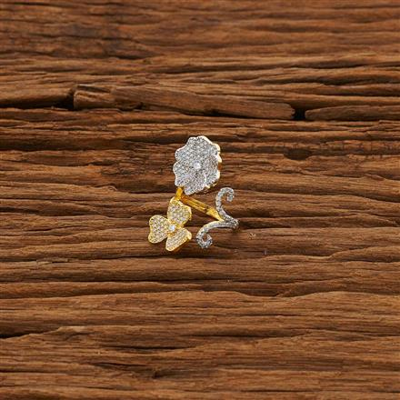 53302 CZ Classic Ring with 2 tone plating