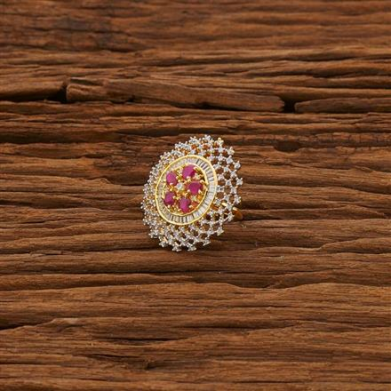 53312 CZ Classic Ring with 2 tone plating