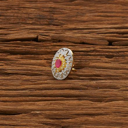 53316 CZ Classic Ring with 2 tone plating