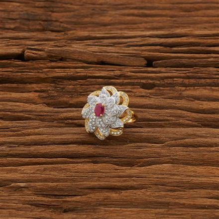 53318 CZ Classic Ring with 2 tone plating