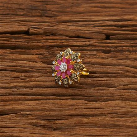 53319 CZ Classic Ring with 2 tone plating